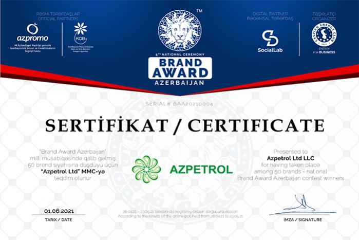 """Beşinci """"Brand Award Azerbaijan"""" milli müsabiqəsinin qalibləri açıqlandı."""
